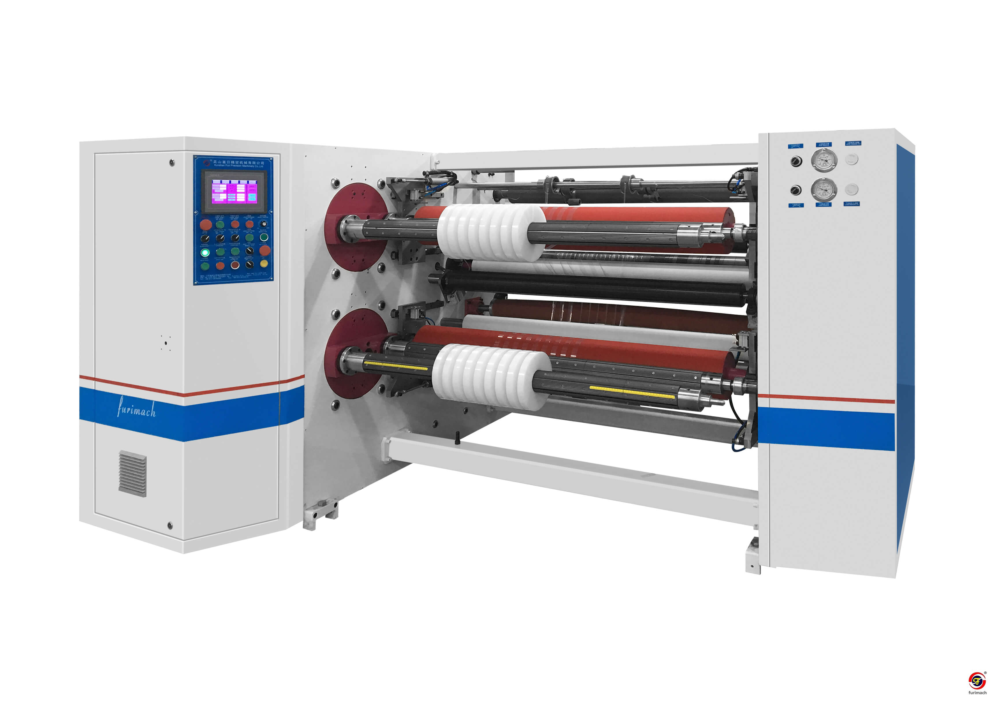 SLF-S Automatic Four-shaft Turret Exchange Protective Film Slitter Rewinder Machine